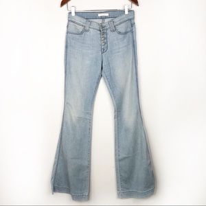 7 for all Mankind 70s Light High Rise Button Flare